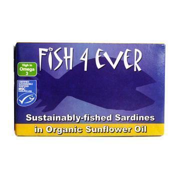 Sardines in biologische zonnebloemolie, MSC  (blik 120g) (120g)