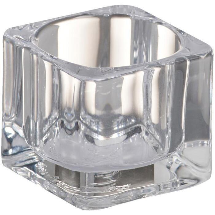 Bolsius Theelichthouder glas vierkant