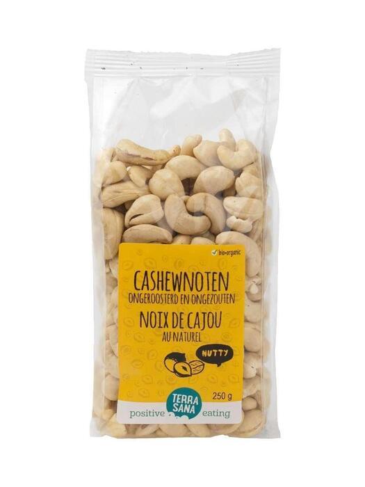 Cashewnoten ongeroosterd zonder zout TerraSana 250g (250g)