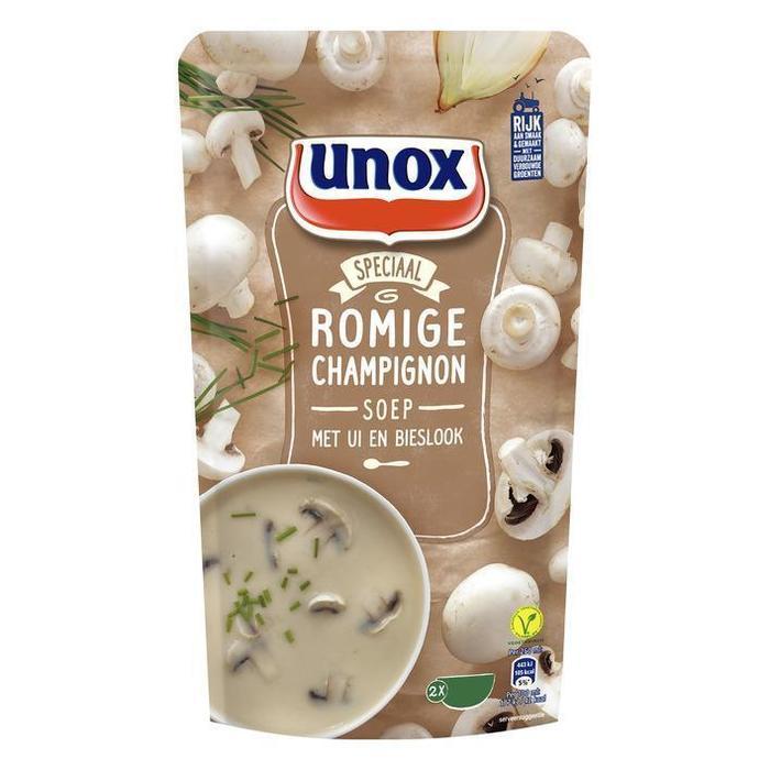 Romige champignonsoep (zak, 0.57L)
