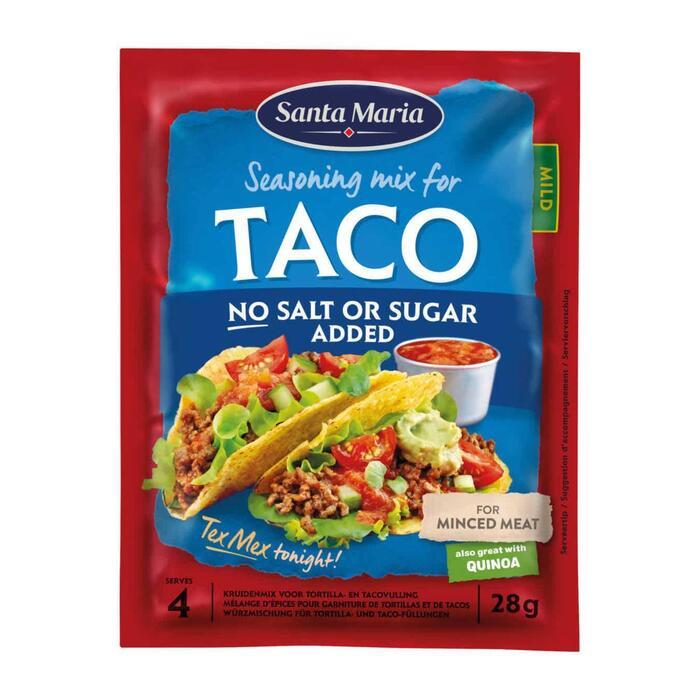 Santa Maria Taco Kruidenmix geen zout toegevoegd 25 g (25g)
