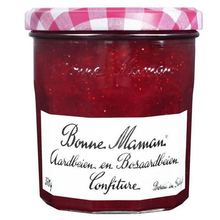 Bonne Maman Aardbeien en bosaardbeien confiture (370g)