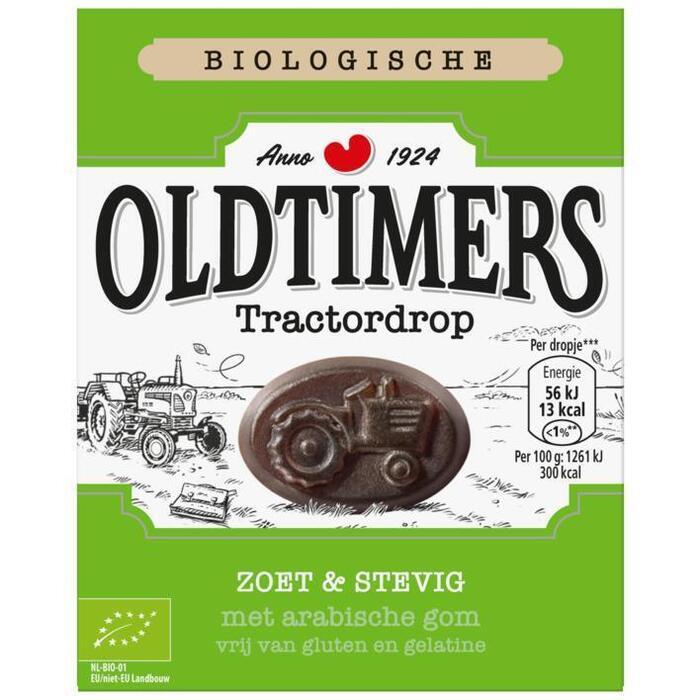 Oldtimers Biologische zuiver zoete tractor drop (180g)