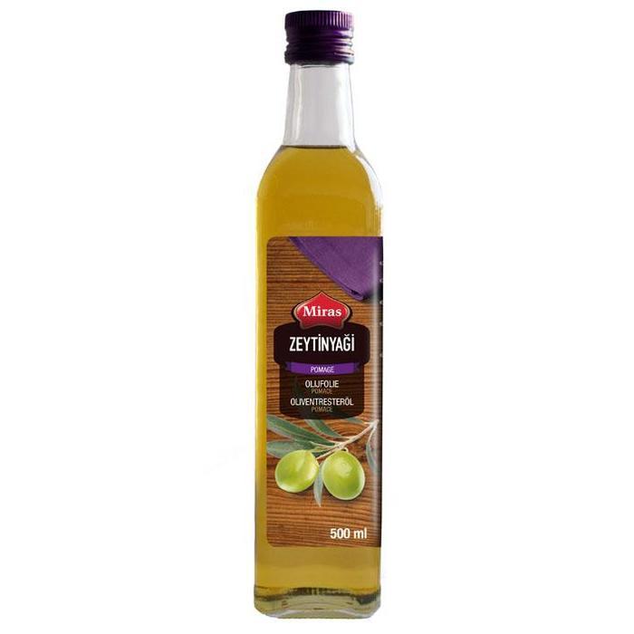 Pomace olijfolie (glazen fles, 0.5L)