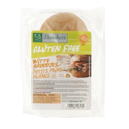 Damhert Nutrition Glutenvrije Witte Broodjes 120g (120g)