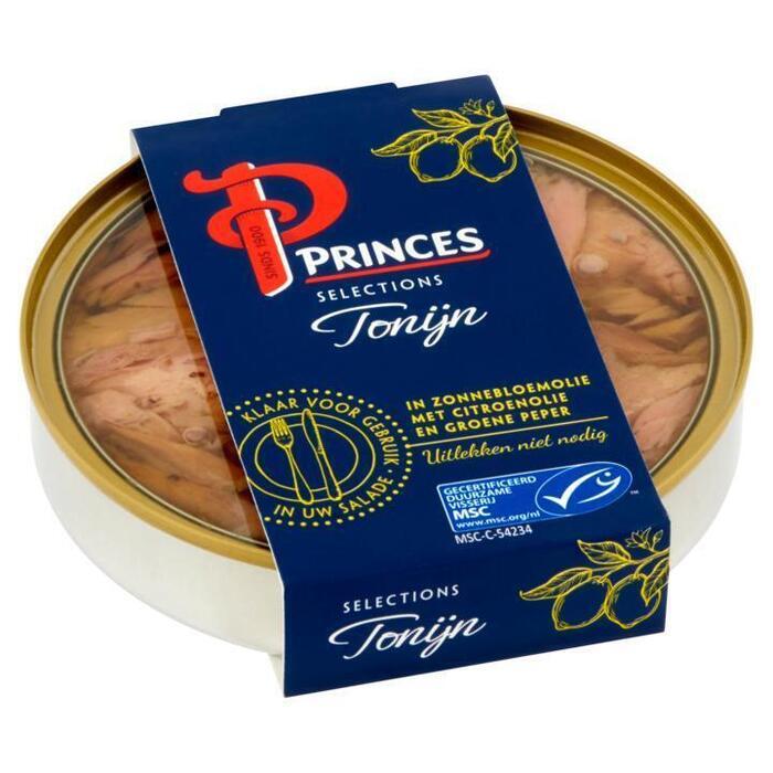 Princes Selections Tonijn in Zonnebloemolie met Citroenolie en Groene Peper MSC 120 g (120g)