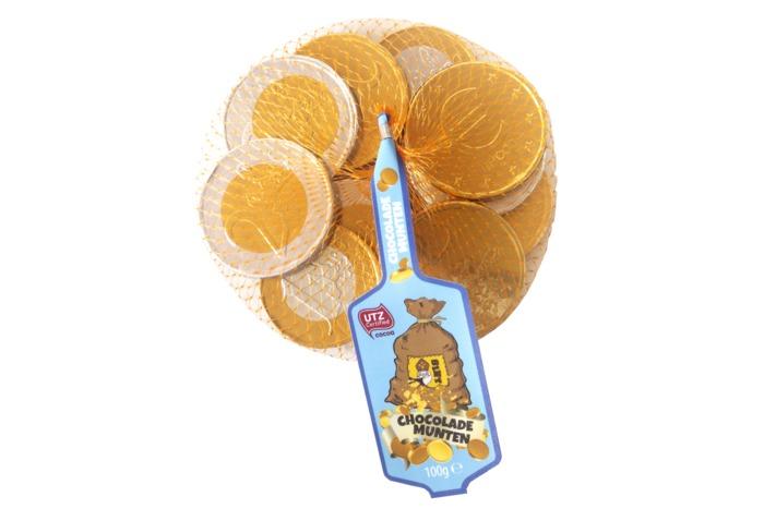 Gouden Chocolade Munten (100g)