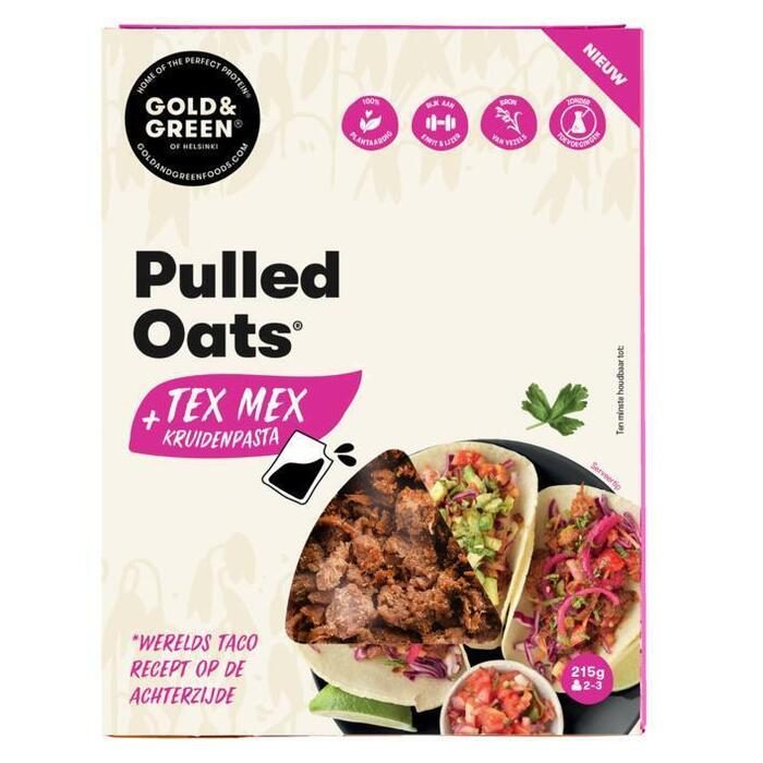 Gold & Green Pulled oats tex mex (215g)