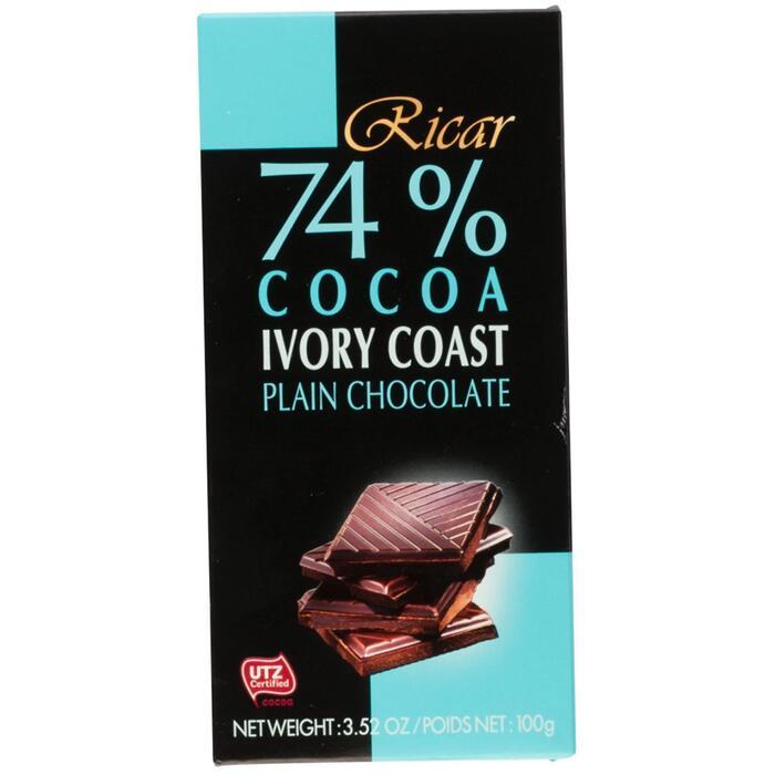 Ricar 74% Cocoa Extra Dark Chocolate 100g (100g)