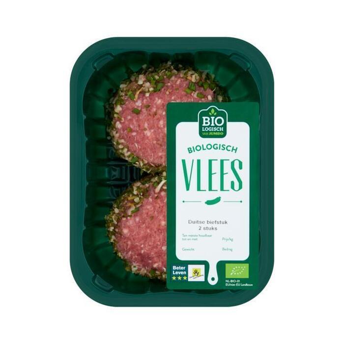 Jumbo Biologisch Vlees Duitse Biefstuk 2 Stuks 200g (200g)
