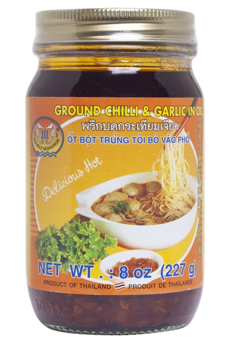 Double Seahorse chili and garlic in oil pot 227 g (227g)