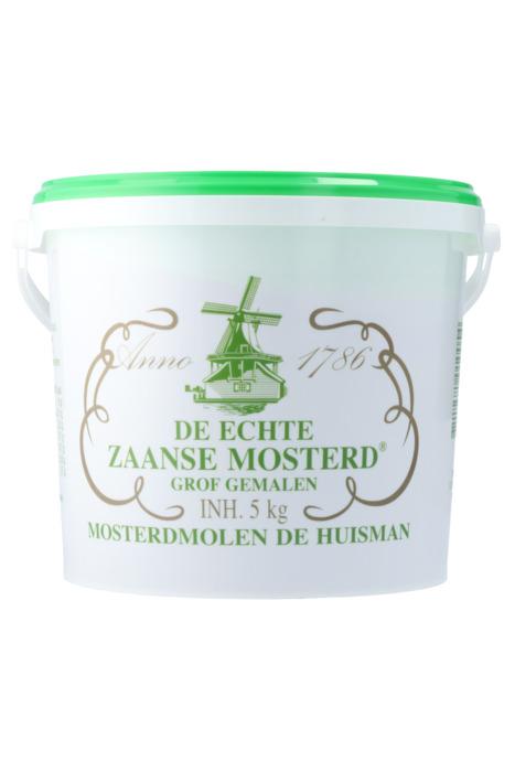 Huisman De echte Zaanse mosterd grof 5 KGM emmer (5kg)