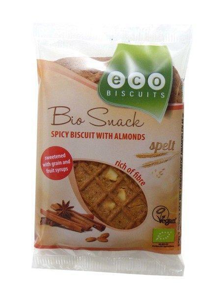 Bio Snack spelt spicy biscuit with almonds (45g)