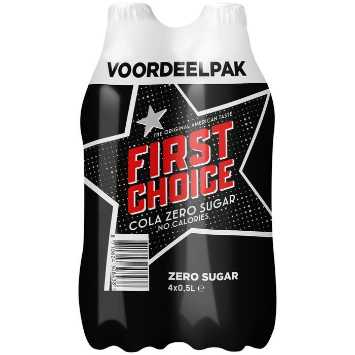Cola zero sugar (4 × 0.5L)