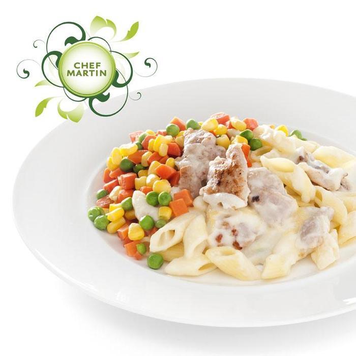 Chef Martin Kip in mozzarella kaassaus groente pasta (535g)