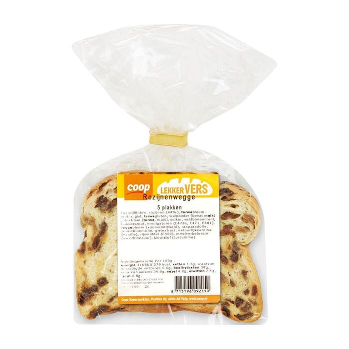 Coop Vruchtenbrood met rozijnen (250g)