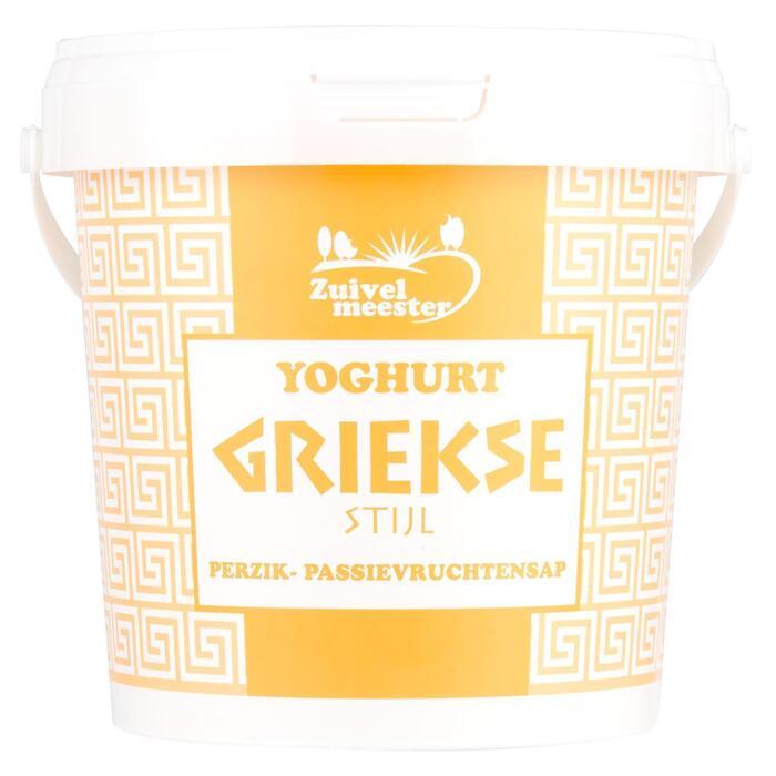 Yoghurt griekse stijl perzik-passievrucht (1kg)