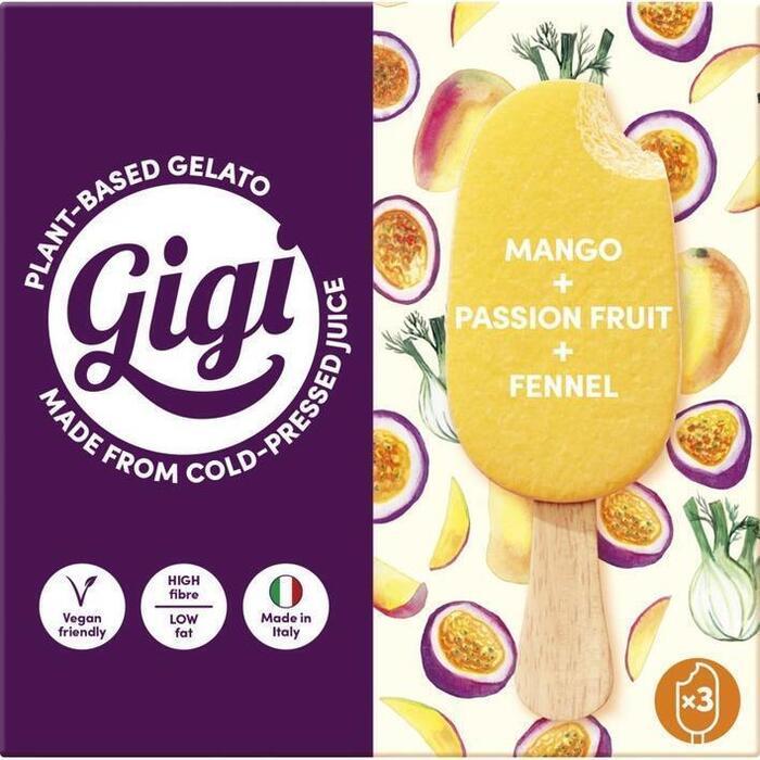 Gigi Vega ijs mango passievr venkel
