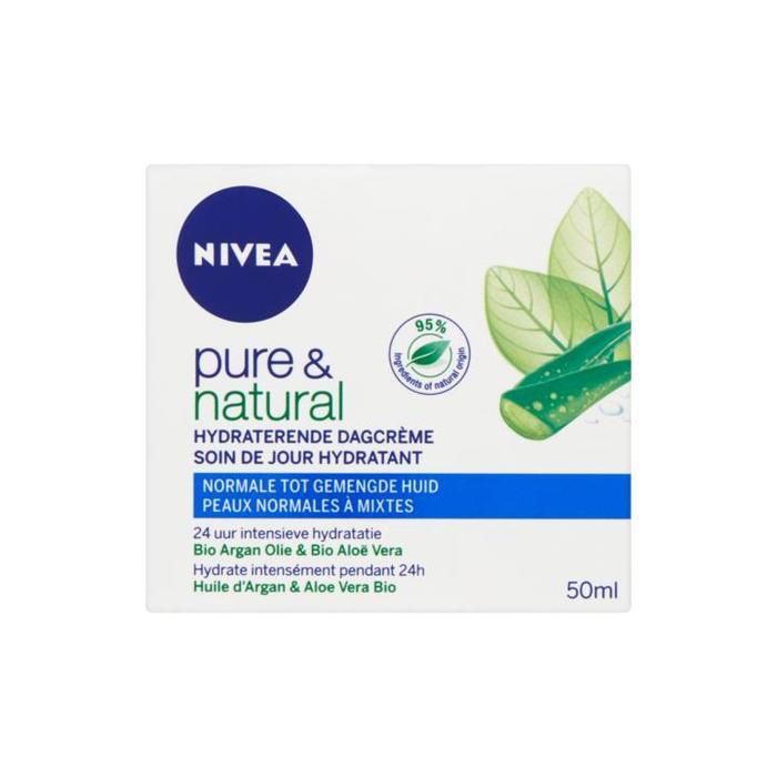 Nivea Pure & Natural Hydraterende Dagcrème 50ml (0.75L)