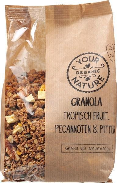 Granola - tropisch fruit, pecannoten & pitten (375g)