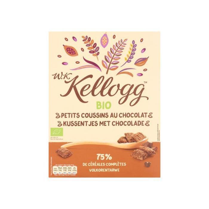 W.K Kellogg Bio Kussentjes met Chocolade 420 g (420g)
