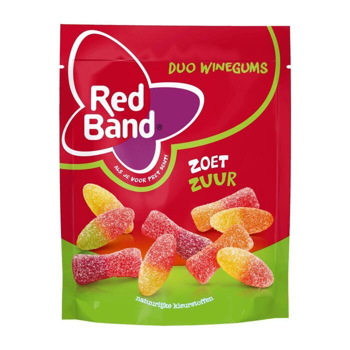 Red Band Duo winegums zoet zuur (215g)