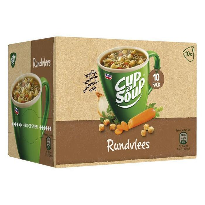 Cup-A-Soup Rundvlees 10 x 14g (10 × 14g)
