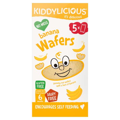 Kiddylicious Bananen Rijstwafels 6+ Maanden 10 Stuks 20g (5 × 4g)