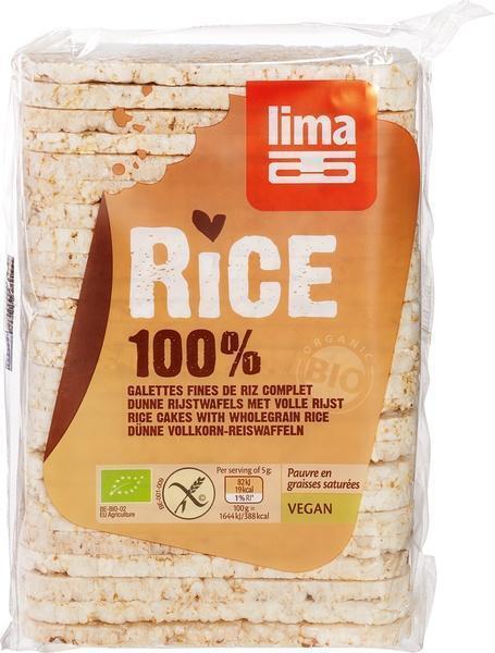 Rijstwafels dun volrijst met zout (130g)