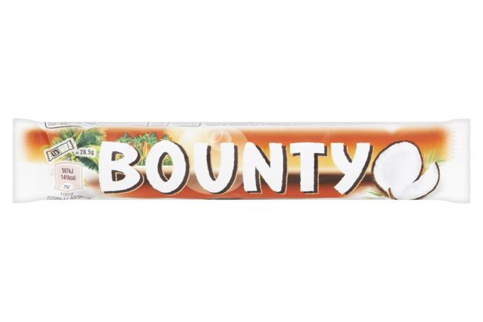 BOUNTY Chocolade met vulling Puur 2*28,5g Wikkel (wikkel, 2 × 28.5g)