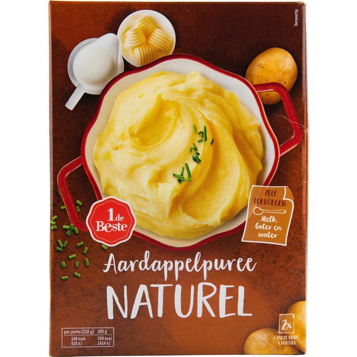 Aardappelpuree naturel 2 stuks (270g)