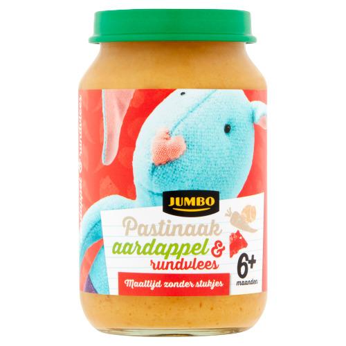Jumbo Pastinaak Aardappel & Rundvlees 6+ Maanden 200 g (200g)