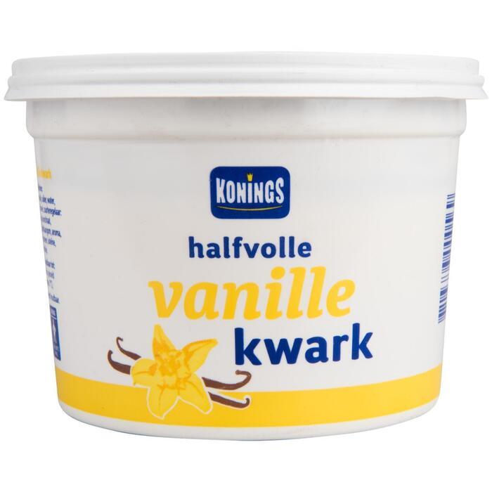 Konings halfvolle vanille kwark 450 GRM Beker/kuipje (450g)