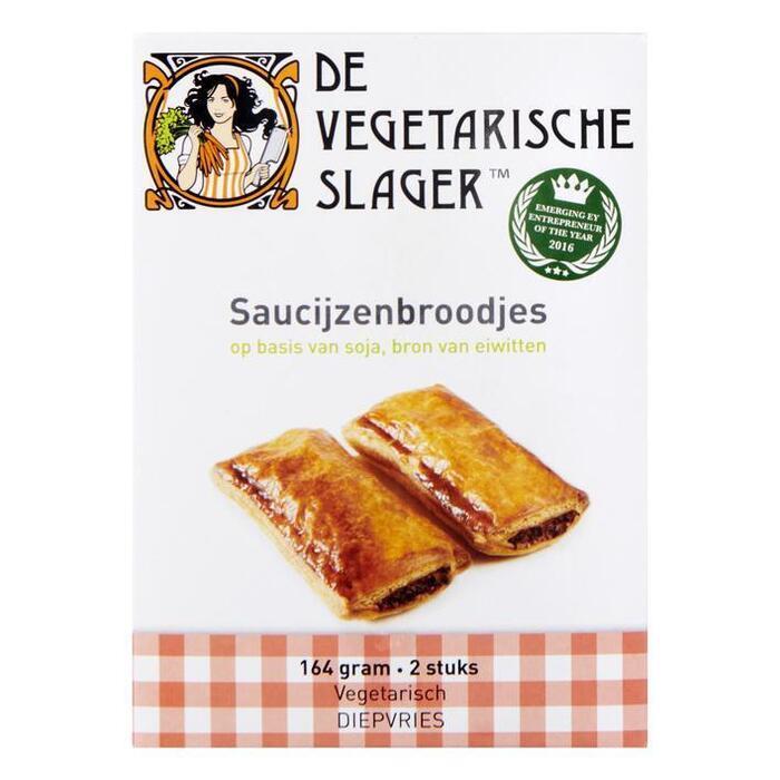 Vegetarische Slager Roomboter saucijzenbroodjes soja (2 × 164g)