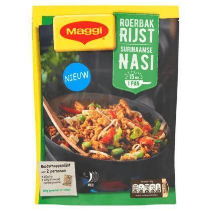 Maggi Roerbakrijst surinaamse nasi pakket (163g)