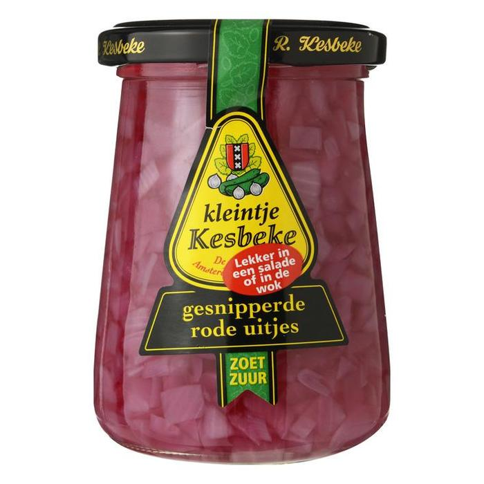 gesnipperde rode uitjes (pot, 235ml)