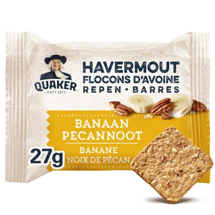 Quaker Havermout Breaks Granen Biscuits Banaan Pecannoot 27g (27g)
