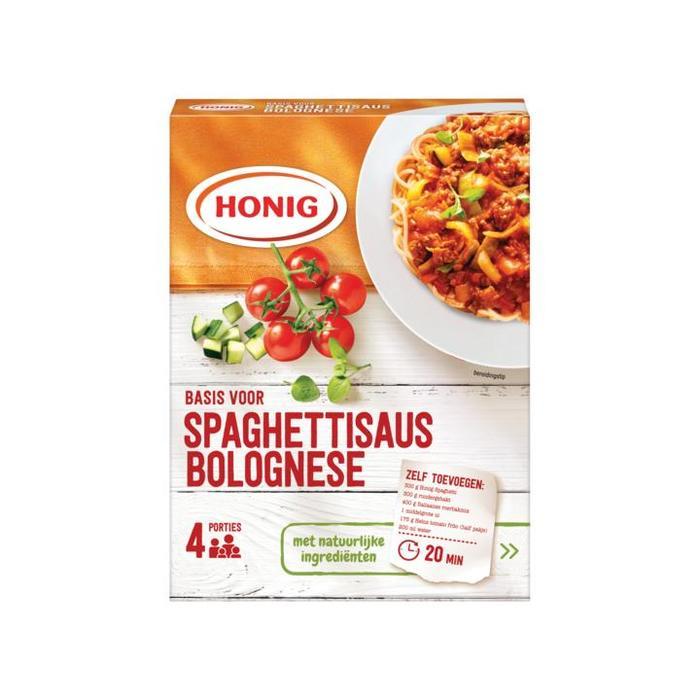 Honig Basis voor Spaghettisaus Bolognese 41g (doos, 59g)