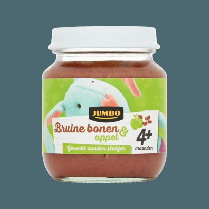 Jumbo Bruine Bonen & Appel 4+ Maanden 125g (125g)