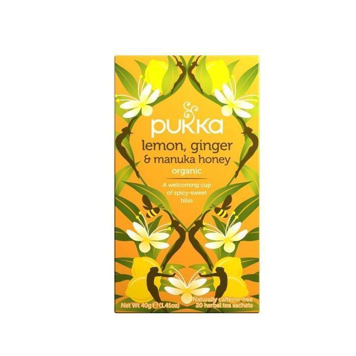 Lemon-ginger & manuka honey (builtje, 40g)