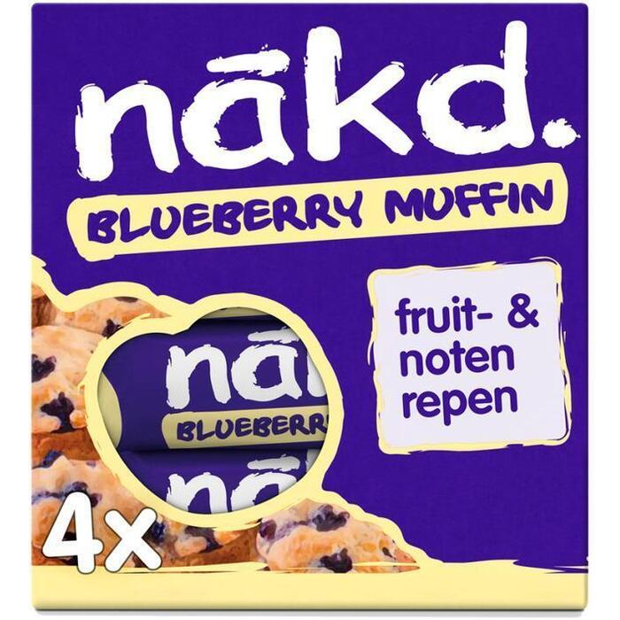 Nakd Blueberry muffin (4 × 140g)