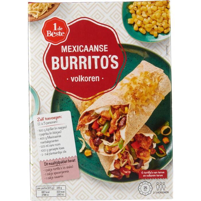 Mexicaanse burritos volkoren (227g)