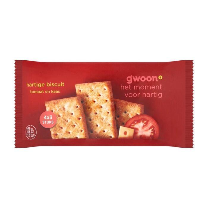 g'woon Hartige biscuit kaas tomaat (166g)