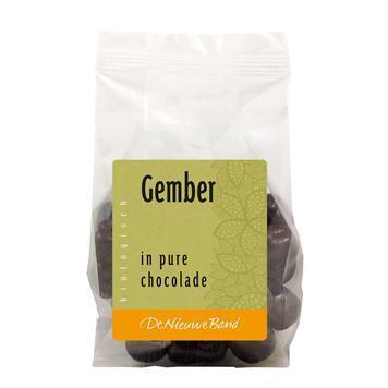Gember in pure chocolade (175g)
