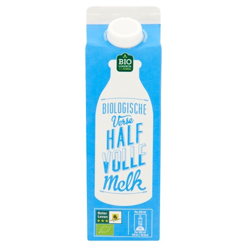 Biologische Verse Halfvolle Melk (drankkarton, 0.5L)