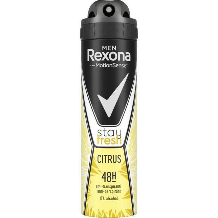 Rexona Men Anti-Transpirant Spray Stay Fresh Citrus 150 ml (150ml)