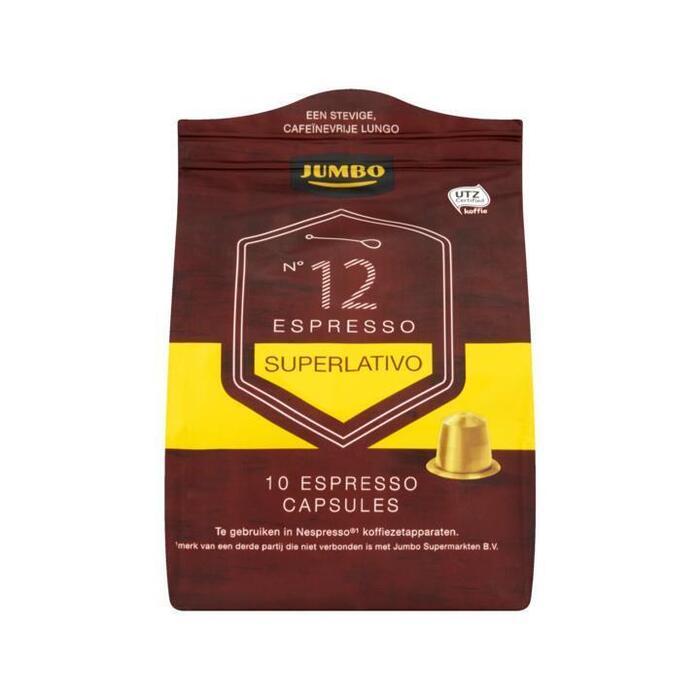 Jumbo N° 12 Espresso Superlativo 10 Espresso Capsules 52g (52g)