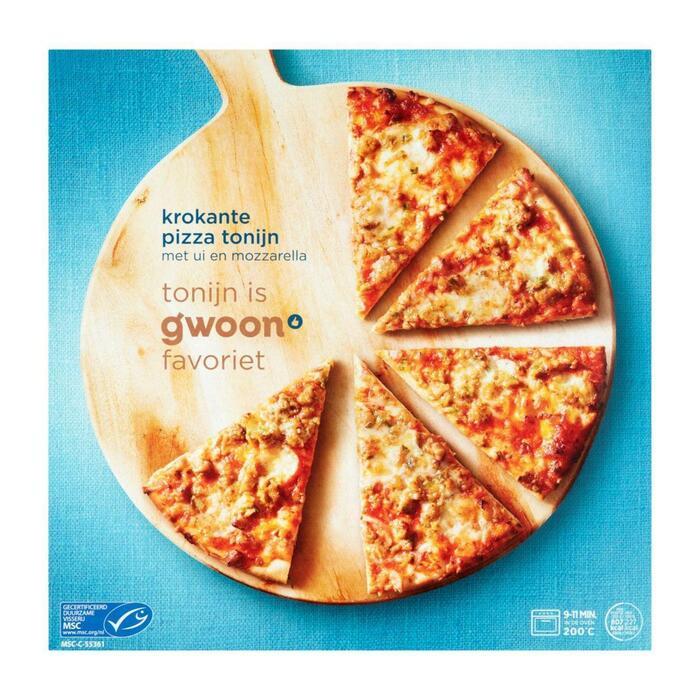 g'woon Krokante pizza tonijn (355g)