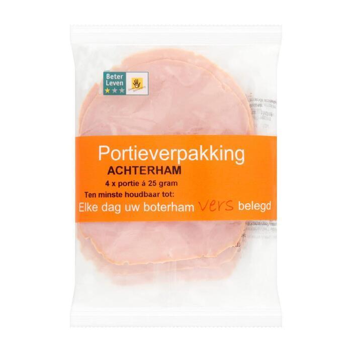 Portie Achterham 4X25G (100g)