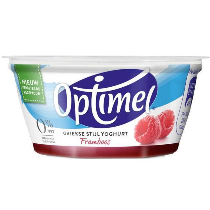 Yoghurt griekse stijl framboos (150g)